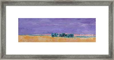 Lost Horizon Framed Print by Marsha Heimbecker