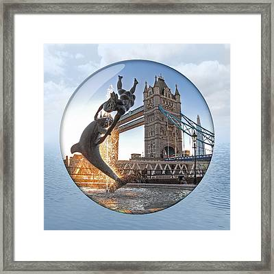 Lost In A Daydream - Floating On The Thames Framed Print by Gill Billington