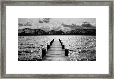 Lost In Lake Tahoe Framed Print