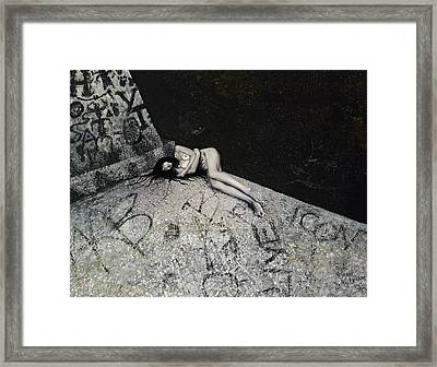 Lost In New York Framed Print