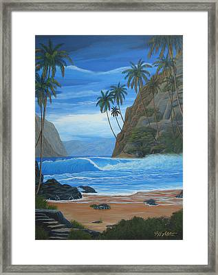 Lost In Paradise Framed Print by Jeffrey Oldham