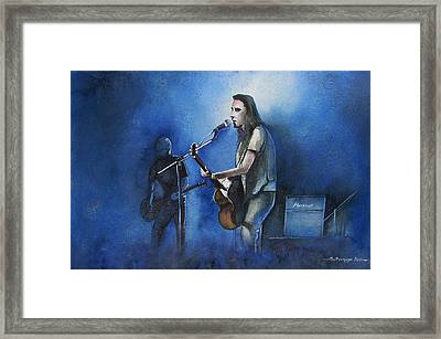 Lost In Singing Framed Print
