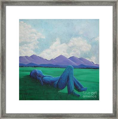 Lost In Sky Framed Print