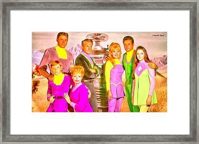 Lost In Space Team - Da Framed Print