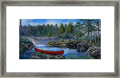 Lost In The Boundary Waters Framed Print