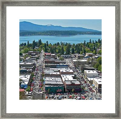 Lost In The 50s Sandpoint Framed Print by Jerry Luther