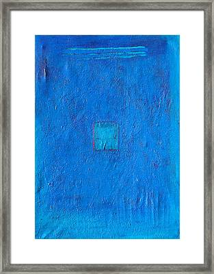 Lost In The Blue Framed Print by Habib Ayat
