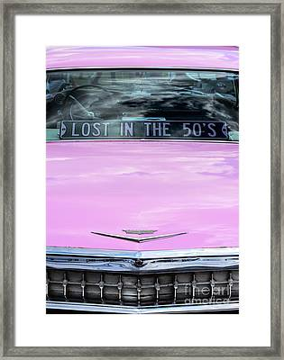 Framed Print featuring the photograph Lost In The Fifties by Tim Gainey