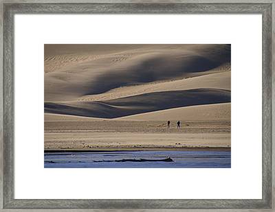 Lost In The Great Sand Dunes Framed Print