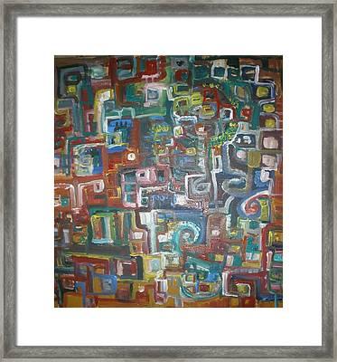 Lost In The Labyrinth Framed Print by Philip Arnzen-Jones