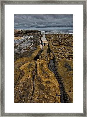 Lost In The Maze Framed Print by Peter Tellone