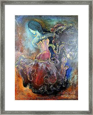 Lost In The Motion Framed Print