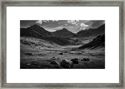 Lost In Thought. French Pyrenees Framed Print by Robert Brown