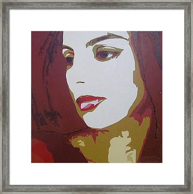 Lost In Thought Framed Print by Ricklene Wren