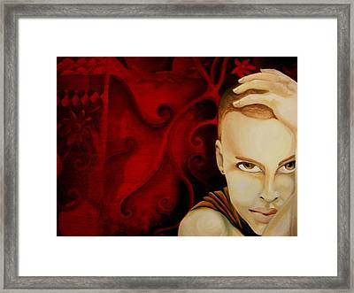 Lost In Thought Framed Print by Victoria Dietz