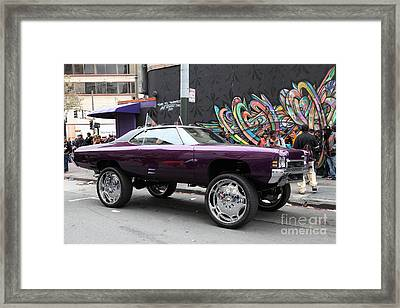 Lost In Urban America - Boys In The Hood And The Ride - Tenderloin District - San Francisco 5d19354 Framed Print by Wingsdomain Art and Photography