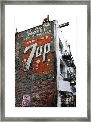 Lost In Urban America - El Rosa Hotel - Tenderloin District - San Francisco California - 5d19351 Framed Print by Wingsdomain Art and Photography