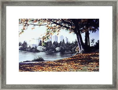 Lost Lagoon Framed Print by Frank Townsley