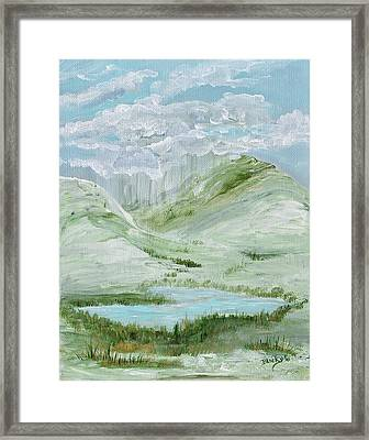 Lost Lake Framed Print by Donna Blackhall