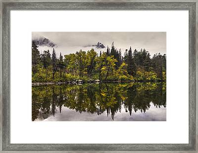 Lost Lake In Glacier Framed Print by Mark Kiver