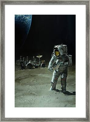 Lost Moon Framed Print by Simon Kregar