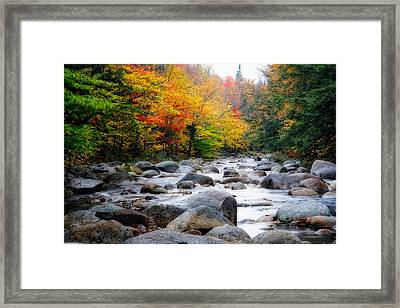 Lost River Gorge At Fall  New Hampshire Framed Print by George Oze