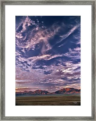 Lost River Sky Framed Print by Leland D Howard