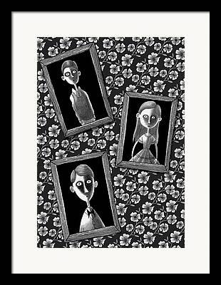 Light And Dark Mixed Media Framed Prints
