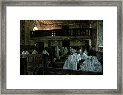 Lost Souls In A Lost Churchhouse Framed Print