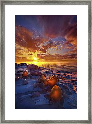 Framed Print featuring the photograph Lost Titles, Forgotten Rhymes by Phil Koch