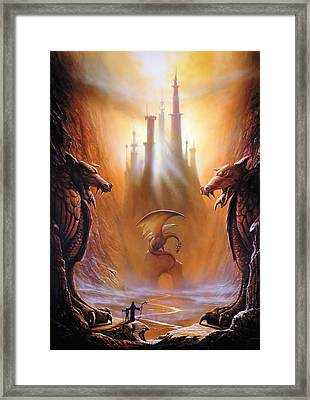 Lost Valley Framed Print by The Dragon Chronicles - Garry Wa