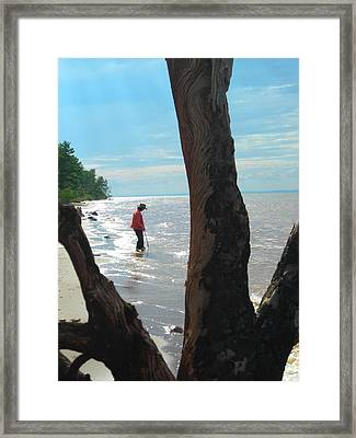Lost Woman Framed Print by Peter Mowry