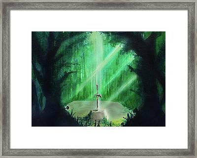 Lost Woods Master Sword Framed Print by Ivan Florentino Ramirez