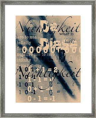 Lost--zero--nothingness Framed Print