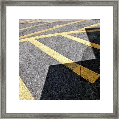 Lot Lines Framed Print