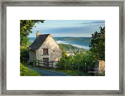 Lot Valley Cottage Framed Print by Brian Jannsen