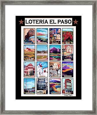 Loteria El Paso Framed Print