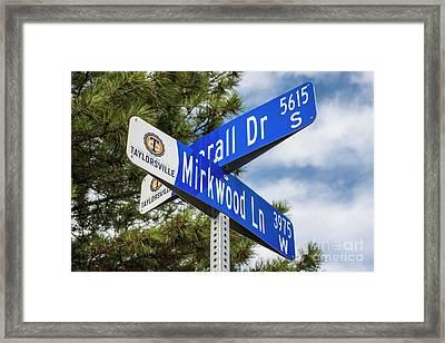 Lotr Mirkwood Street Signs Framed Print by Gary Whitton