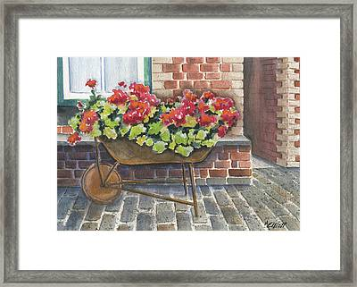 Lots Of Bricks Framed Print by Marsha Elliott