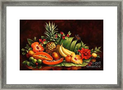 Lots Of Fruit Framed Print by Laurie Hein