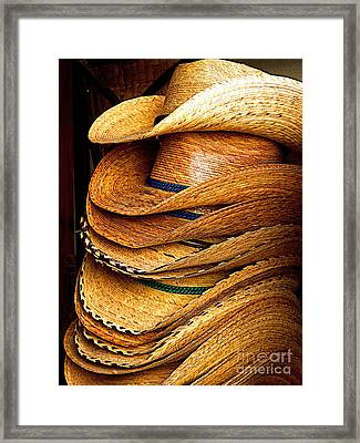 Lots Of Hats Framed Print by Mexicolors Art Photography
