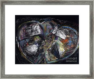Lots Of Heart Framed Print by Frances Marino