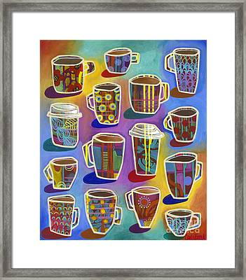 Framed Print featuring the painting Lots Of Lattes by Carla Bank