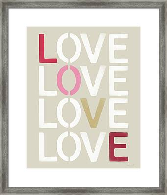 Lots Of Love- Art By Linda Woods Framed Print by Linda Woods