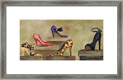 Lots Of Shoes Framed Print