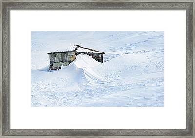 Lots Of Snow Framed Print by Svetlana Sewell