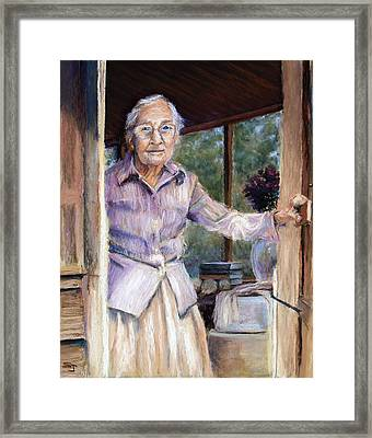 Lottie The Faithful Servant Framed Print