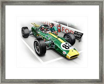 Lotus 38 Indy 500 Winner 1965 Framed Print by David Kyte