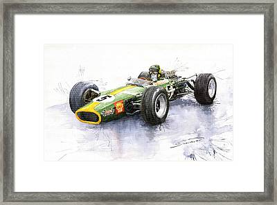 Lotus 49 Ford F1 Jim Clark Framed Print
