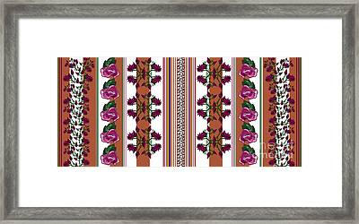 Lotus And Rose Prints Framed Print